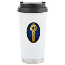 Gold Celtic Cross Travel Mug