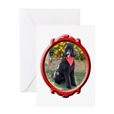 Classy Poodle Greeting Card