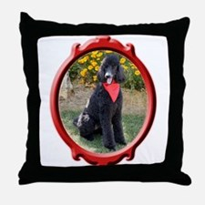 Classy Poodle Throw Pillow