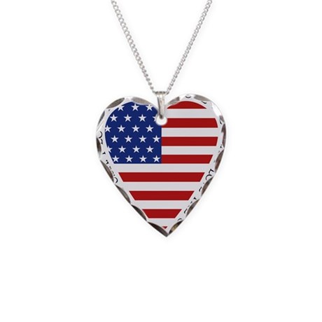 Flag Heart Necklace