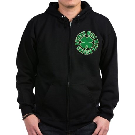 Drinks Well With Others Zip Hoodie (dark)