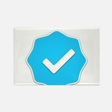 """Verified Account"" Rectangle Magnet"
