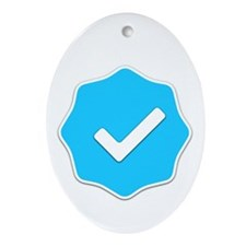 """""""Verified Account"""" Ornament (Oval)"""