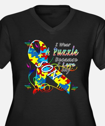 I Wear A Puzzle Because I Love My Son Women's Plus