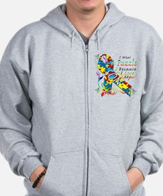 I Wear A Puzzle Because I Love My Son Zip Hoodie