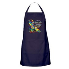 I Wear A Puzzle Because I Love My Son Apron (dark)