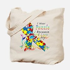 I Wear A Puzzle Because I Love My Son Tote Bag