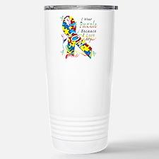 I Wear A Puzzle Because I Love My Son Travel Mug
