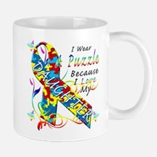 I Wear A Puzzle Because I Love My Daughter Mug