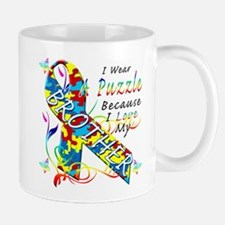 I Wear A Puzzle Because I Love My Brother Mug
