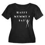 Mummy's Day Women's Plus Size Scoop Neck Dark T-Sh