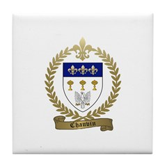 CHAUVIN Family Crest Tile Coaster