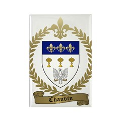 CHAUVIN Family Crest Rectangle Magnet
