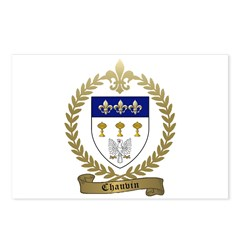 CHAUVIN Family Crest Postcards (Package of 8)