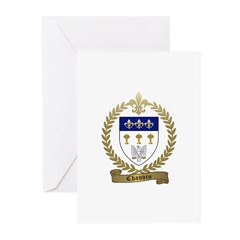 CHAUVIN Family Crest Greeting Cards (Pk of 20)