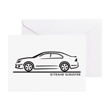 Ford Fusion Greeting Cards (Pk of 10)