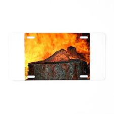 Fire & Ice Aluminum License Plate