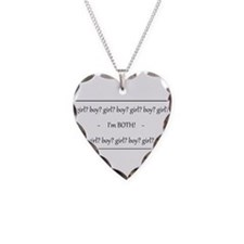 Funny Gay and lesbian Necklace Heart Charm