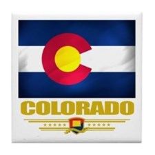 Colorado Pride Tile Coaster