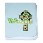 Winning Irish Celtic Cross baby blanket