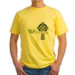 Winning Irish Celtic Cross Yellow T-Shirt