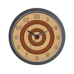 "SERIES G:  ""Shades of Wood"" Wall Clock"