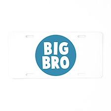 Big Bro Aluminum License Plate