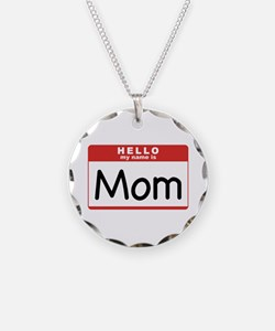 Mom Nametag Necklace