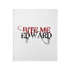 Bite Me Edward 2 Throw Blanket