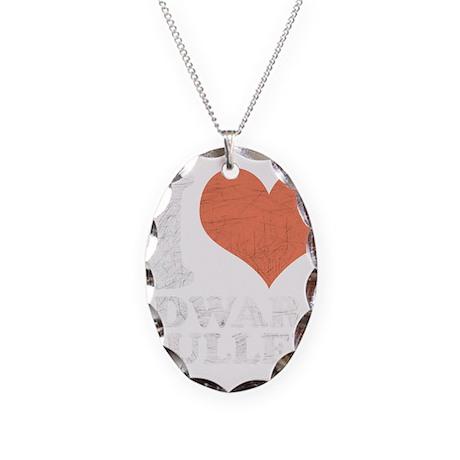 I Heart Edward Necklace Oval Charm