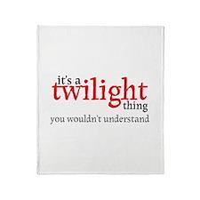 Twilight Thing Throw Blanket