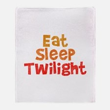 Eat Sleep Twilight Throw Blanket