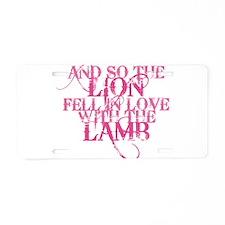Lion Lamb Aluminum License Plate