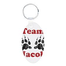 Team Jacob Aluminum Oval Keychain