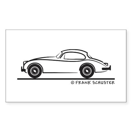 Jaguar 150 Sticker (Rectangle)