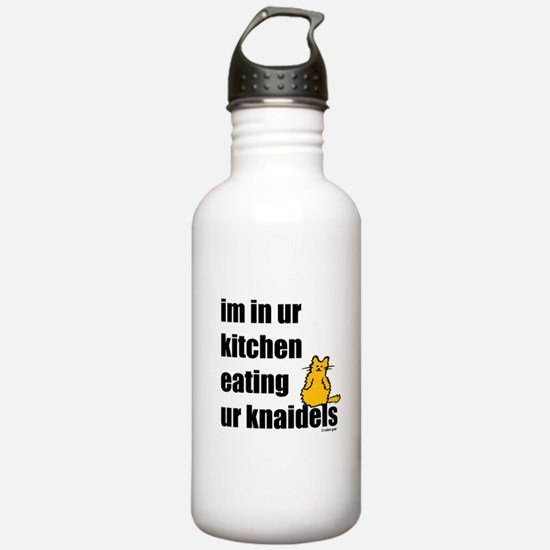 Cat and Knaidels Water Bottle