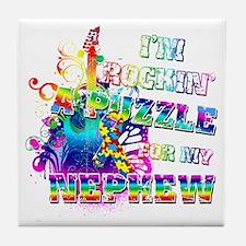 I'm Rockin' A Puzzle for my Nephew Tile Coaster