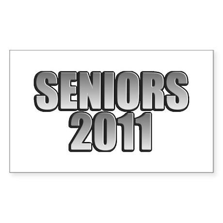 Seniors 2011 Sticker (Rectangle)
