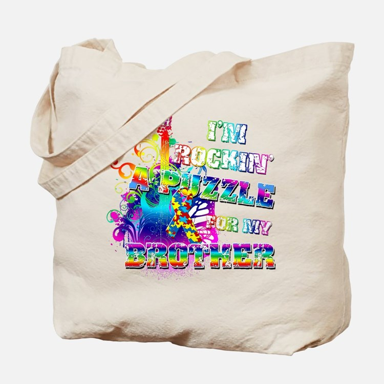 I'm Rockin' A Puzzle for my Brother Tote Bag