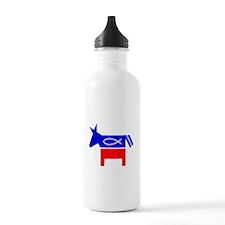 Christian Fish Dem Donkey Water Bottle