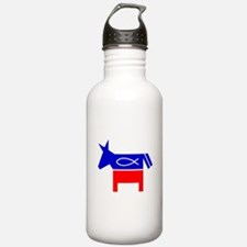 Christian Fish Dem Donkey Water Bottle