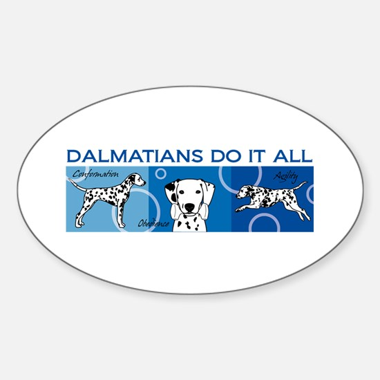 Cute Dalmatian Sticker (Oval)