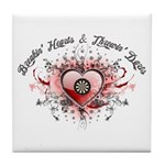 Breakin' Hearts & Throwin' Darts Tile Coaster