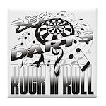 Sex, Darts, Rock N' Roll Tile Coaster