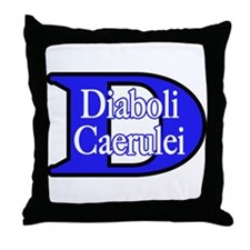 Blue Devils (Plural) Throw Pillow