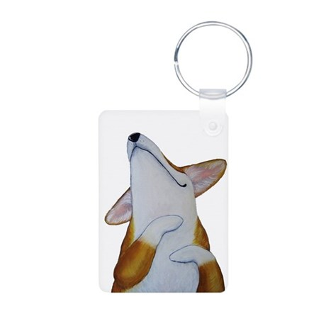 Corgi Bliss Aluminum Photo Keychain