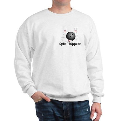 Split Happens Logo 1 Sweatshirt Design Front Pocke