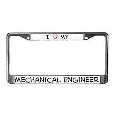 I Love Mechanical Engineer License Plate Frame