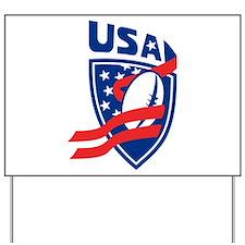 American USA Rugby Yard Sign