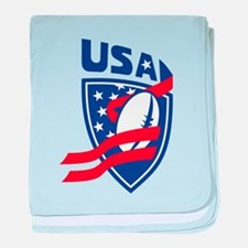 American USA Rugby baby blanket